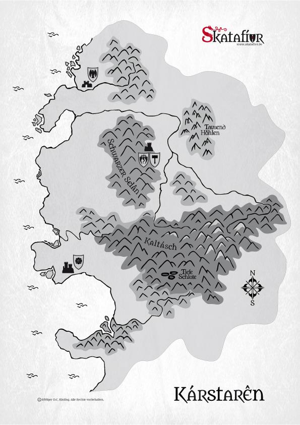 Karte von Kárstarên